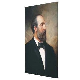 JAMES A. GARFIELD vid Ole Peter Hansen klumpa ihop Canvastryck