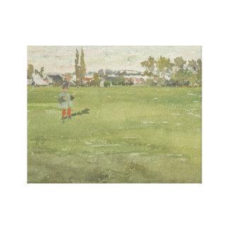 James Abbott McNeill Whistler - grönt och silver Canvastryck