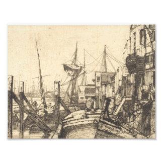 James Abbott McNeill Whistler - Limehouse Fototryck