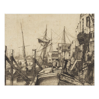 James Abbott McNeill Whistler - Limehouse Poster