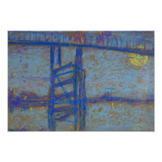 James Abbott McNeill Whistler - nocturne-Battersea Poster