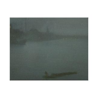 James Abbott McNeill Whistler - Nocturne i blått Canvastryck