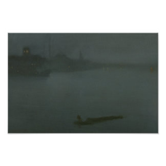 James Abbott McNeill Whistler - Nocturne i blått Poster
