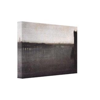 James Abbott McNeill Whistler - Nocturne i grå fär Canvastryck