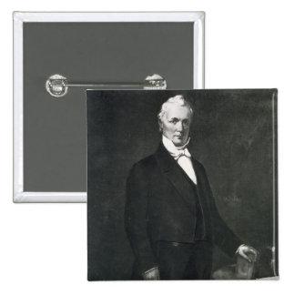 James Buchanan den 15th presidenten av det enigt p Standard Kanpp Fyrkantig 5.1 Cm