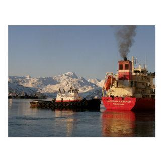 James Dunlap bogserbåt i holländsk hamn Vykort