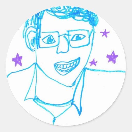 """""""James Franco med den exponeringsglas"""" Runda Klistermärken"""