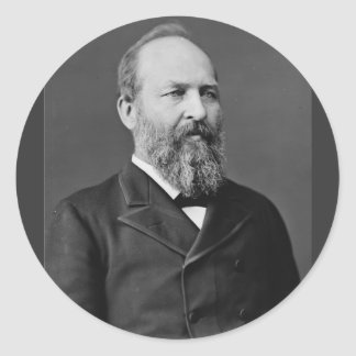 James Garfield 20th president Runt Klistermärke