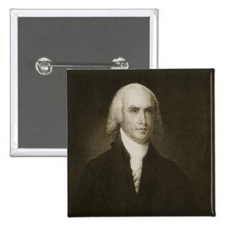 James Madison 4th president av Förenta staterna Standard Kanpp Fyrkantig 5.1 Cm