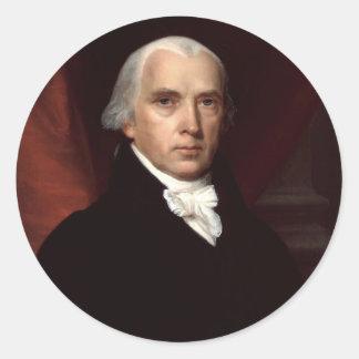 James Madison Rund Klistermärke