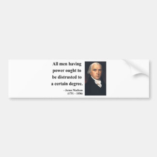 James Madison citationstecken 1b Bildekal