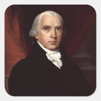James Madison klistermärkear Fyrkantigt Klistermärke