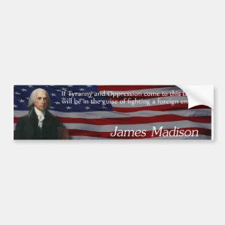 James Madison Tyranny Bildekal