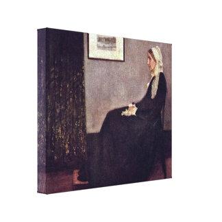 James McNeill Whistler - mor av konstnären Canvastryck