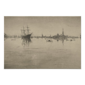 James McNeill Whistler - Nocturne Poster