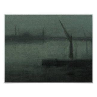 James McNeill Whistler - nocturneblått och silver Poster