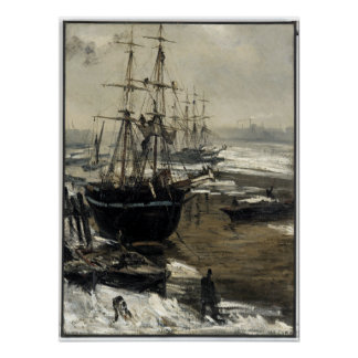James McNeill Whistler Thamesen i is Poster