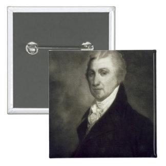 James Monroe 5th president av den Förenta staterna Standard Kanpp Fyrkantig 5.1 Cm