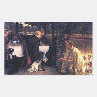 James Tissot - den Prodigal sonen i modern LivTh Retangel Klistermärken