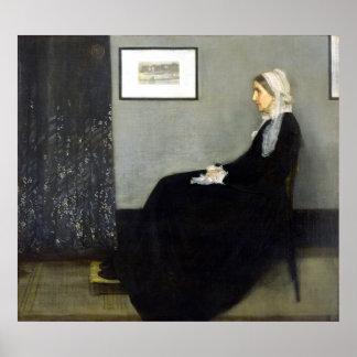 JAMES WHISTLER - ordning i grått och svart Poster
