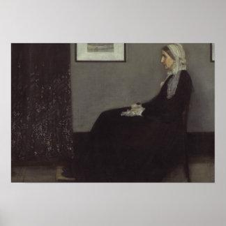 James Whistler - porträtt av konstnärens mor Poster