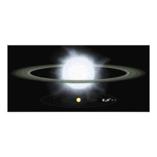 Jämförelse av formatet av en hypergiant stjärna fototryck