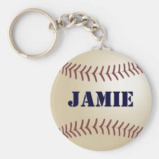 Jamie personligbaseboll nyckelring