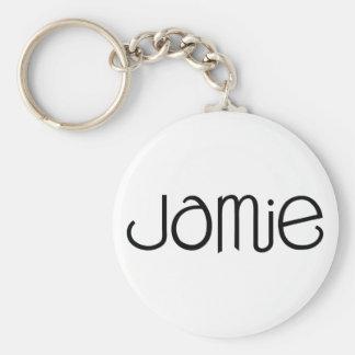 Jamie svart Keychain Rund Nyckelring