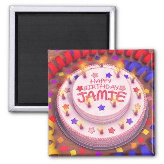 Jamies födelsedagtårta magnet