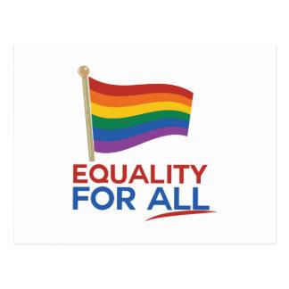 Jämställdhet för alla vykort