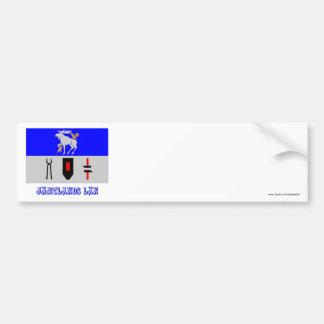 Jämtlands länflagga med namn bildekal
