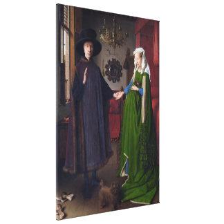JAN SKÅPBIL EYCK - Arnolfini porträtt 1434 Canvastryck