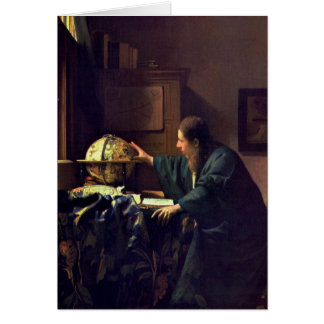 Jan Vermeer - astronomen Hälsningskort