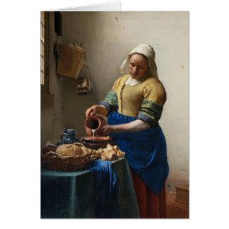 Jan Vermeer - milkmaiden Hälsningskort
