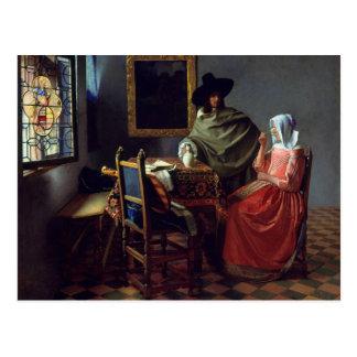 Jan Vermeer, vykortet för vinexponeringsglas Vykort
