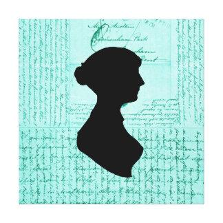 Jane Austen Criss korsat brev som är handskrivet Canvastryck