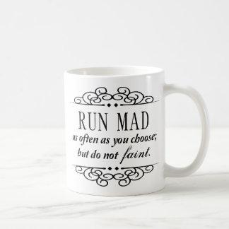 Jane Austen: Den tokiga springan/svimmar inte Kaffemugg
