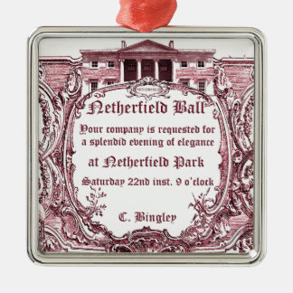 Jane Austen: Netherfield bollinbjudan Julgransprydnad Metall