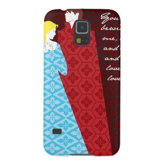 """Jane Austen pride- och fördomgåva """"Elizabeth """", Galaxy S5 Fodral"""