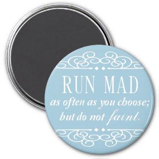 Jane Austen: Svimma inte magneten (bleken - blått) Magnet