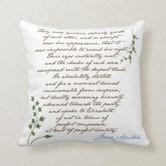Jane Austens pride & fördomcitationstecken #1 Kudde