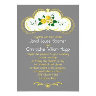 Janell bröllopinbjudan 12,7 x 17,8 cm inbjudningskort