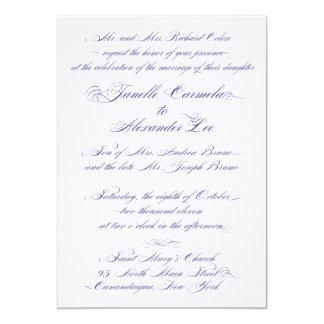 Janelle bröllopinbjudan 12,7 x 17,8 cm inbjudningskort