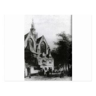 Janskerk (Gouda) vid den Cornelis springeren Vykort