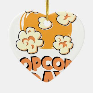 Januari 19th - Popcorndag - gillandedag Julgransprydnad Keramik