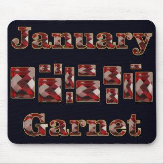 Januari granatröttsten mus matta
