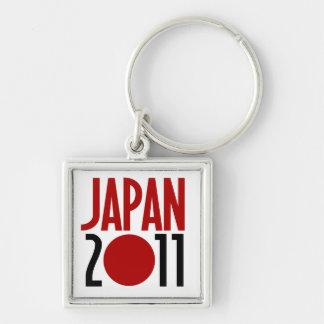 Japan 2011 fyrkantig silverfärgad nyckelring