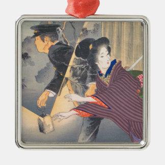 Japan aktivvänd av det 20th århundradet Hamada Julgransprydnad Metall