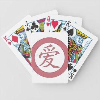Japan - kinesisk kärlek爱 spelkort