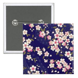 Japan Sakura, Kimono, Origami, Chiyogami, blomma, Standard Kanpp Fyrkantig 5.1 Cm